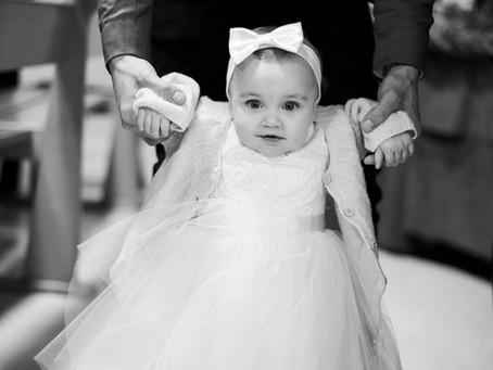 Le baptême de la petite O.