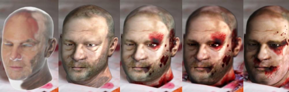 progression of head