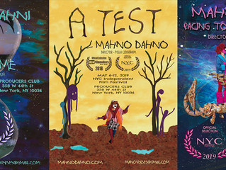 MahnoDahno will be featured AGAIN in the2019 NYC Independent Film Festival