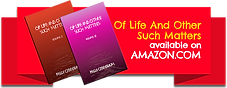 Of Life and Other Such Matters - Vol. 1 & 2 S on Amazon.com