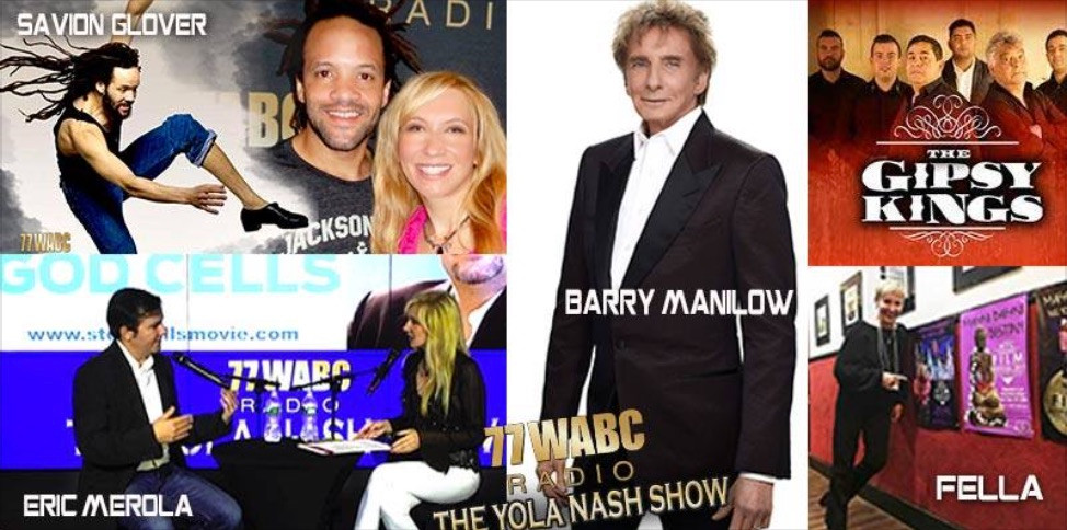 Yola Nash Show on WABC- Savion Glover, Barry Manilow, Gipsy Kings & MahnoDahno