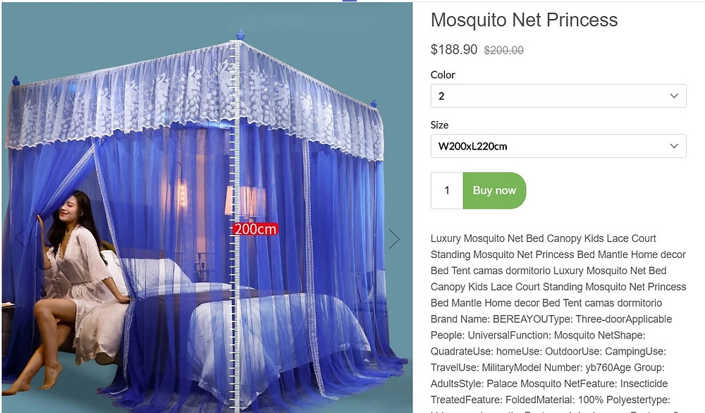 Buy this Net Mosquito for you family safe from virus and insect.