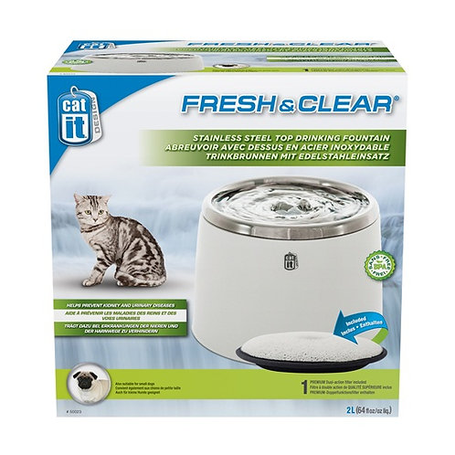 Catit Fresh & Clear Stainless Steel Top Drinking Fountain