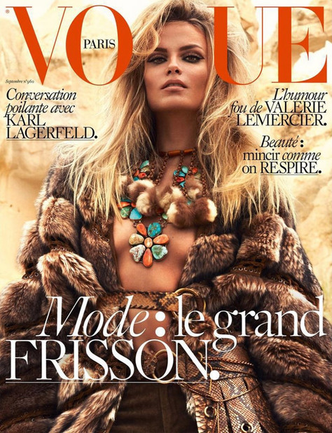 NATASHA POLY COVERS VOGUE PARIS BY MERT AND MARCUS (SEPTEMBER 2015)