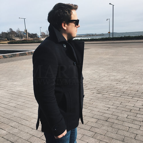 Мужское пальто бушлат из кашемира