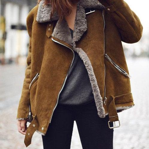 Куртка из дубленочного меха