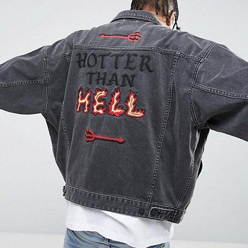 Мужская джинсовая куртка с вышивкой