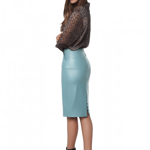 Кожаная юбка Miss