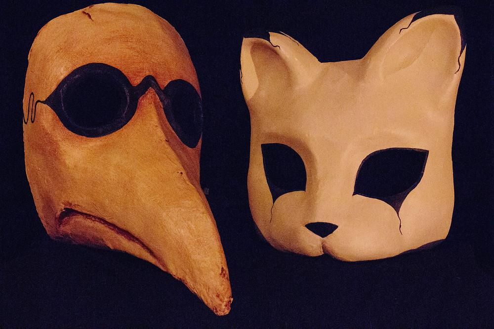 Epic Battle Between Light and Dark Masks