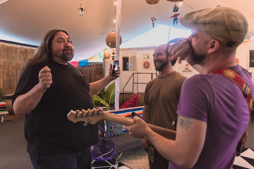 Dave, Jim and Tom Backstage