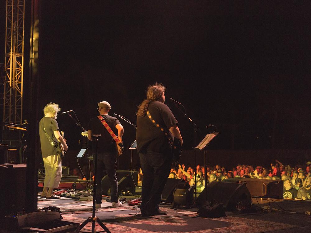 Night one, From left - Bob Weir, Tom Hamilton, Dave Schools. 1.25.17