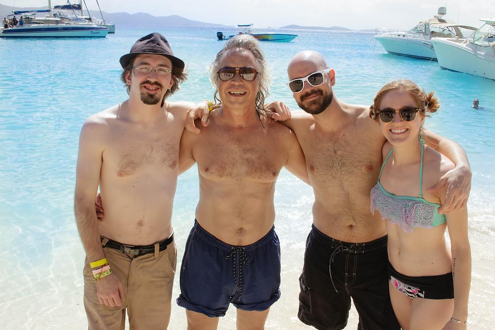 Cayman Cruise - Mark, Jim Lauderdale, Tom, and Raina.