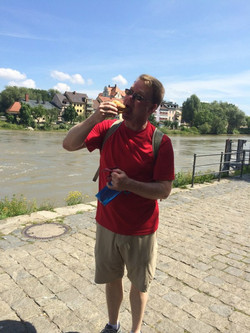 Sausage by the Danube River