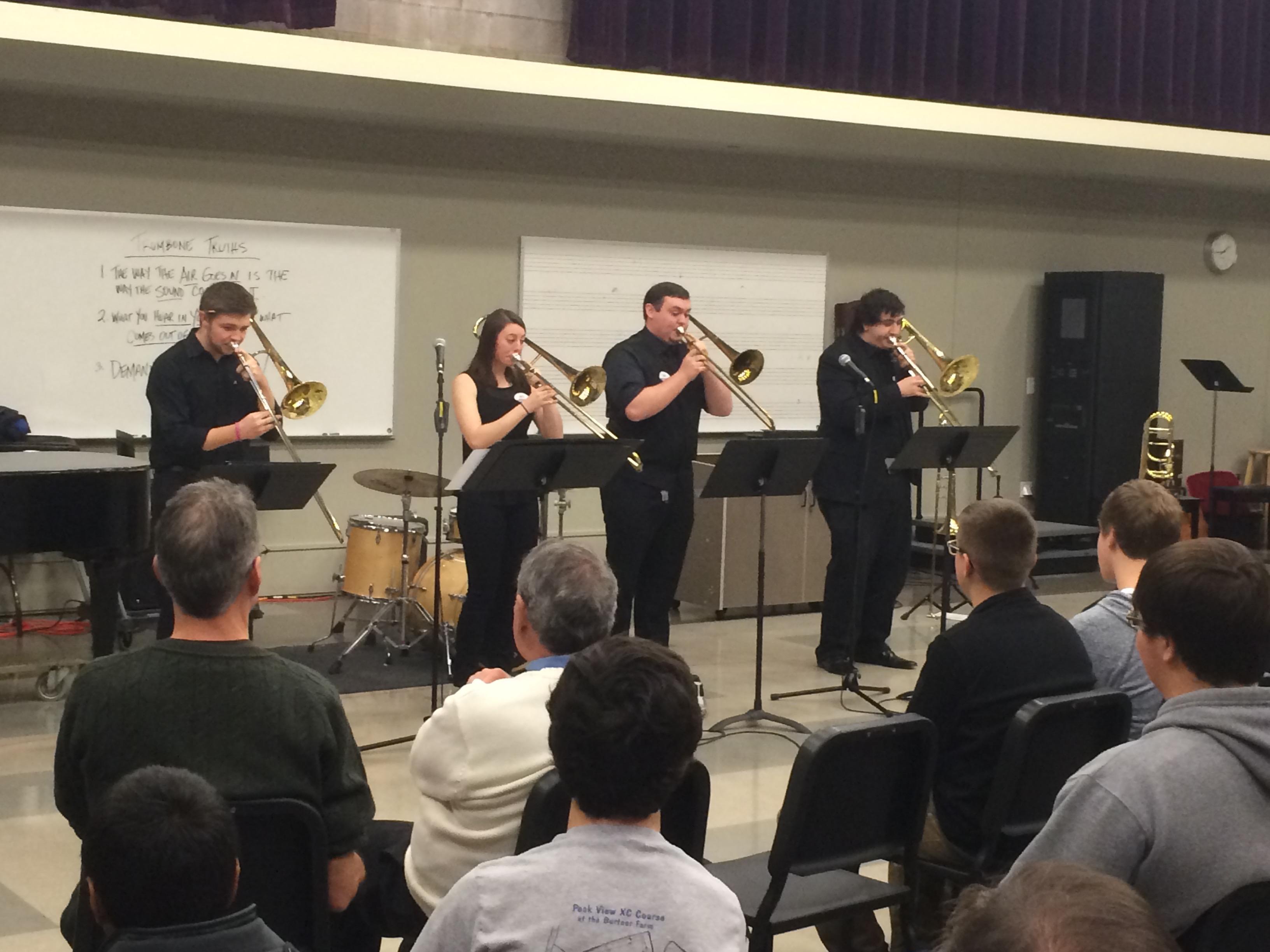 JMU Jazz Ensemble Trombones