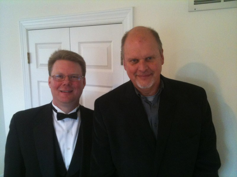 with composer Michael Daugherty