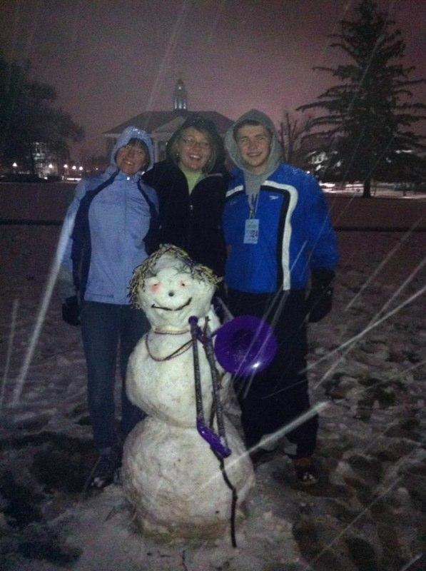 Becca, Megan & Will's Snowman