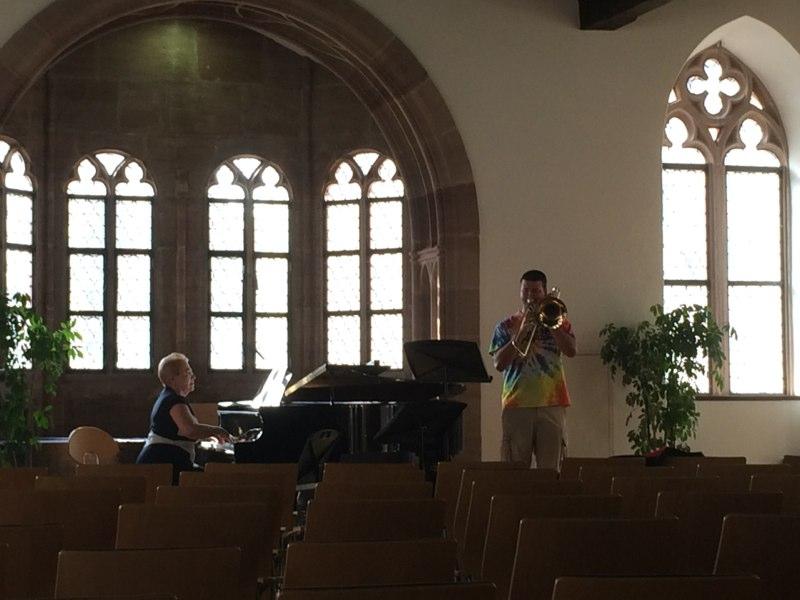 Kyle rehearses Ropartz