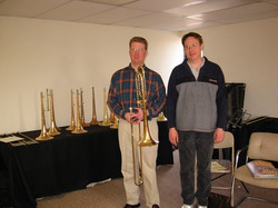 with Steve Shires and new trombone