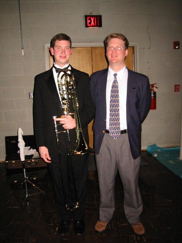 Backstage at Danny's recital