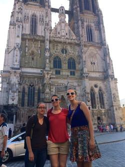 Becca and Grace in Regensburg