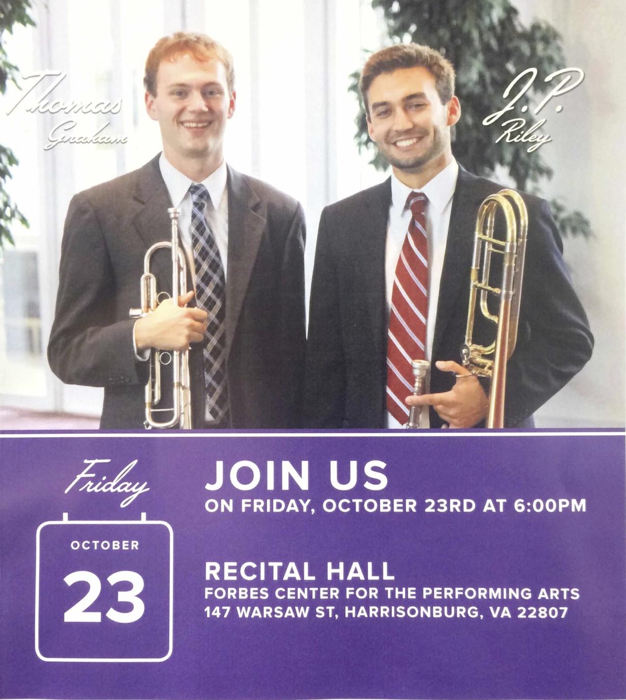 J.P.'s Recital Poster