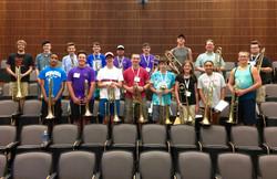 Summer Band Camp trombone class