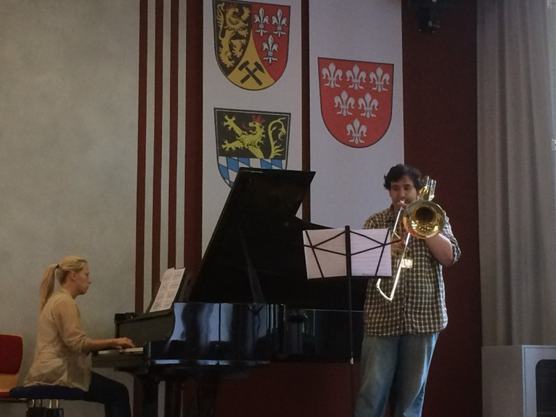 CJ rehearsing Ritter-George