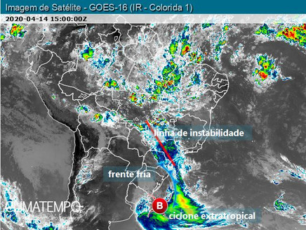Muito vento no Sul do BR, MS, SP e MG