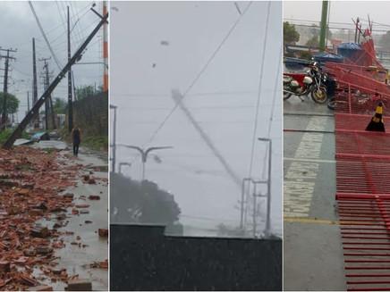 Frentes de rajada; saiba mais sobre o fenômeno que causou danos a São Luis (MA)