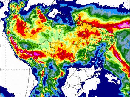 Previsão de chuva para os próximos 15 dias no Brasil