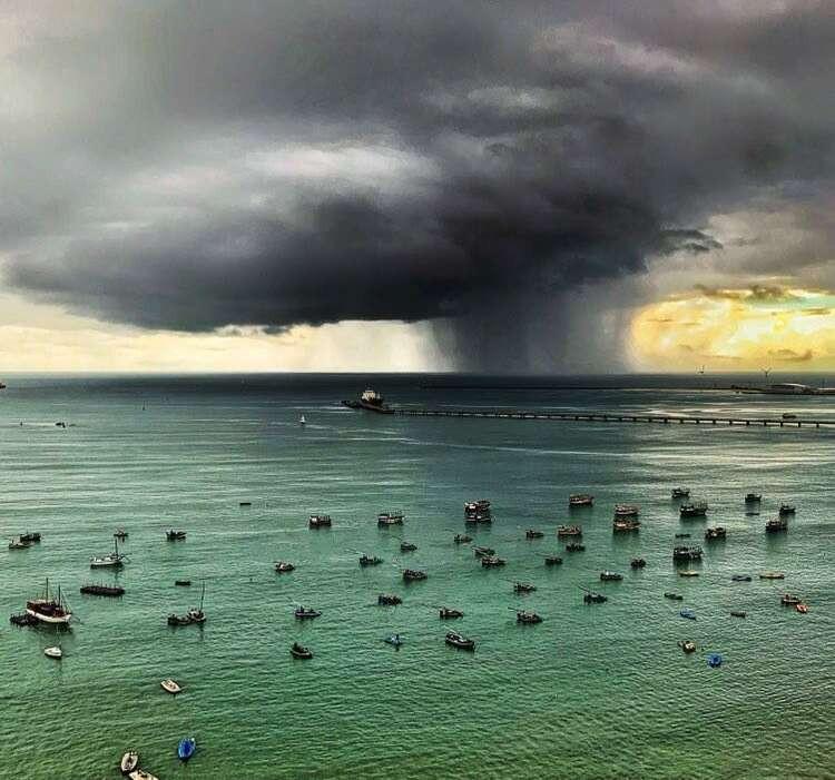 Acumulados expressivos se deram pela proximidade da Zona de Convergência Intertropical (ZCIT) (FOTO: Luciana Otoch)