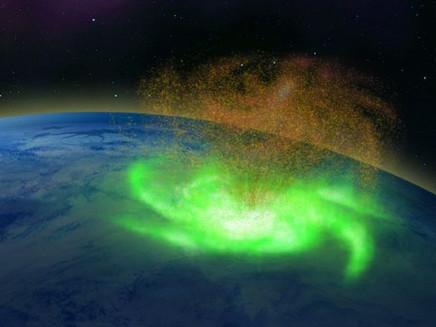 O furacão espacial detectado pela 1ª vez na Terra