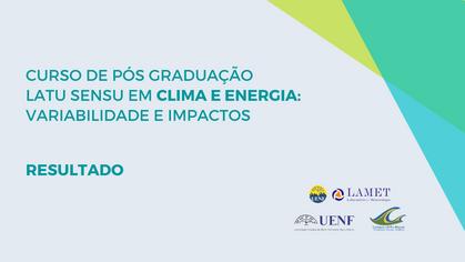 LAMET divulga resultado dos selecionados da pós-graduação em Clima e Energia