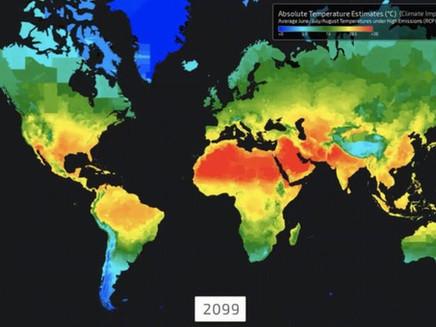 Os mapas que mostram o impacto do aquecimento global no futuro das crianças de hoje