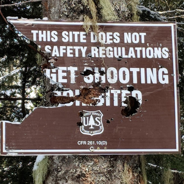 Target shooting in an unsafe site...NO!