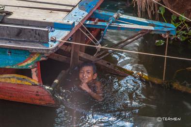 Tonle Sap Lake and Child
