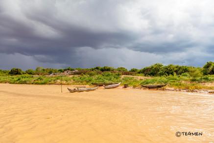 Tonle Sap Lake and Rain