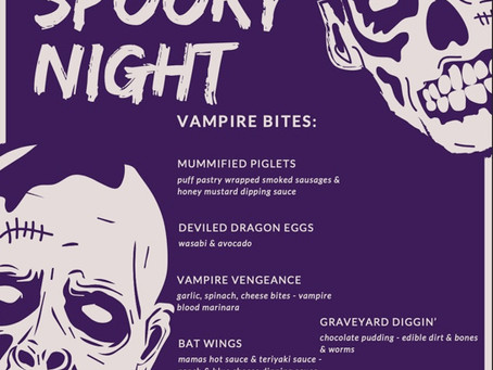 Take a Bite Out of This Menu Vampires!!