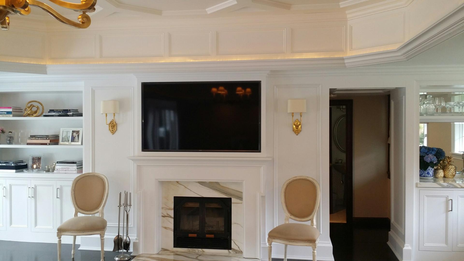Above Fireplace AV system install