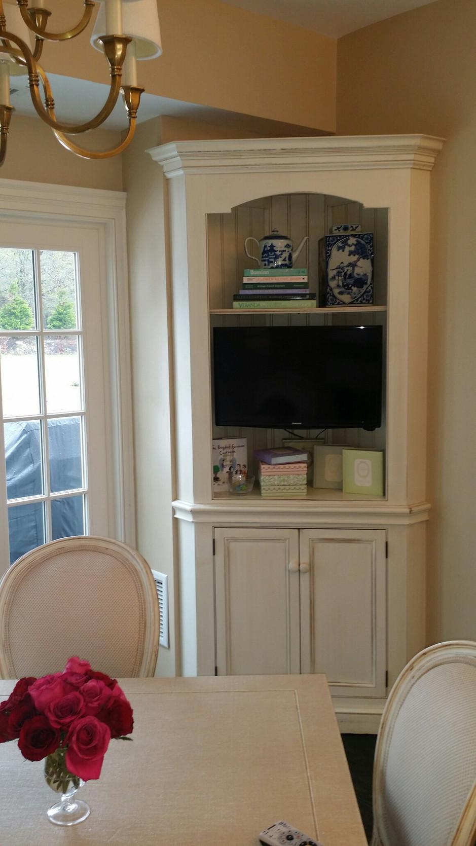 TV retrofit into cabinet