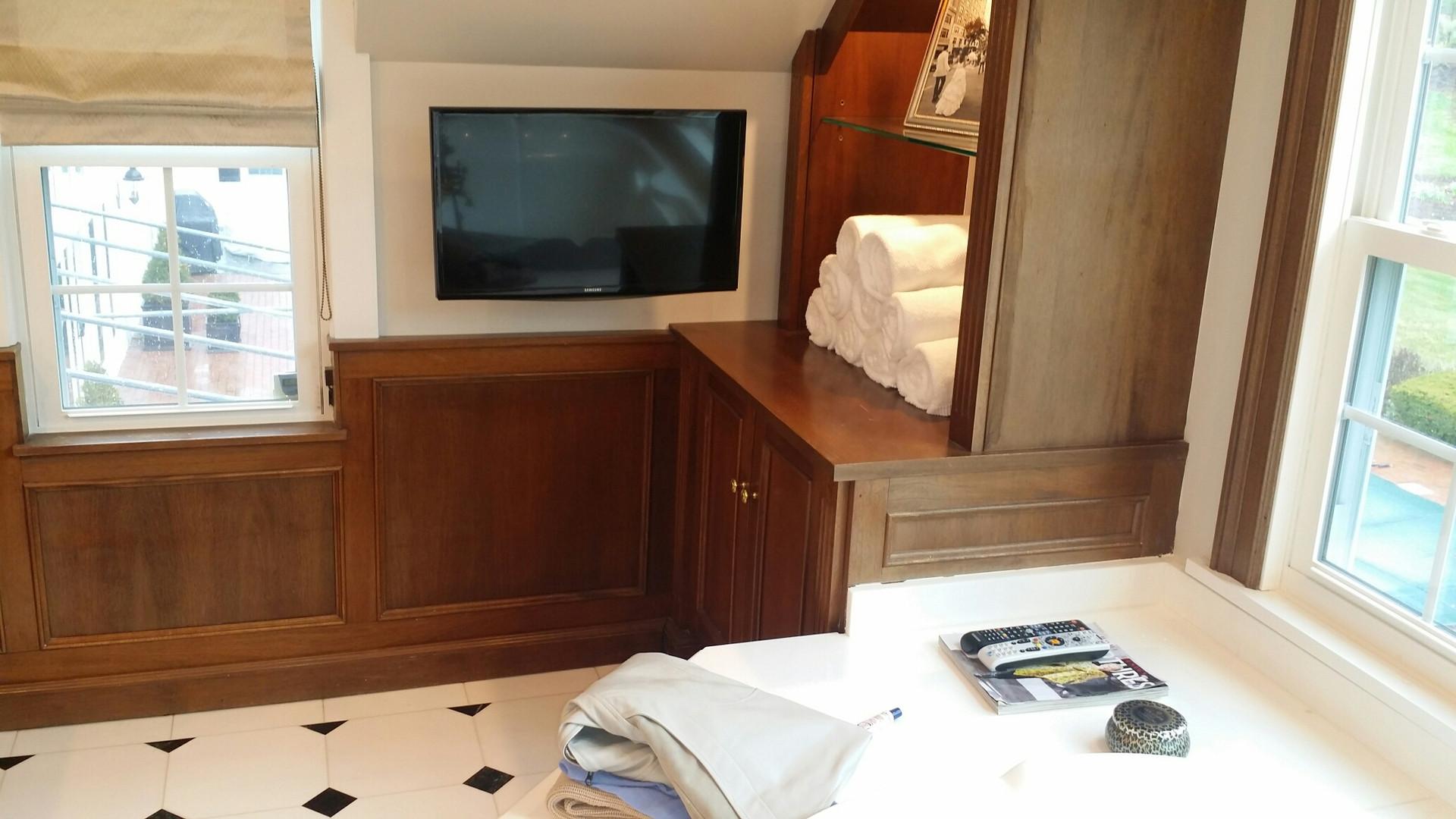 We put TVs everywhere, even the bathroom!