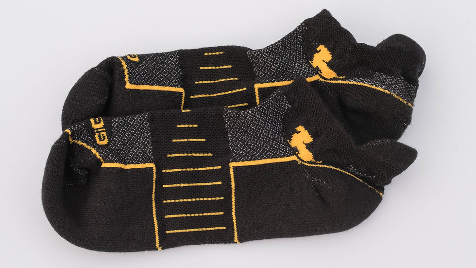 Athletic Ankle Black with Yellow