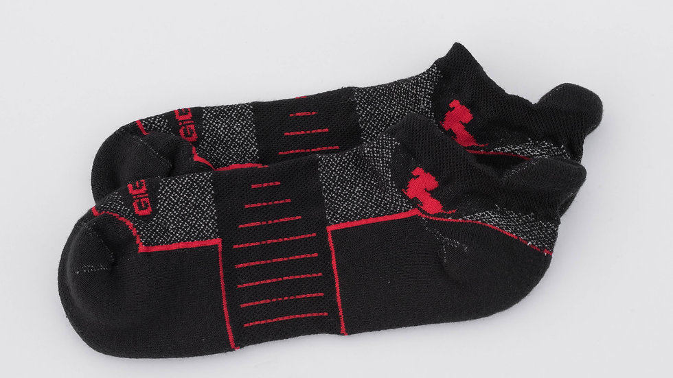 Athletic Ankle Black with Red