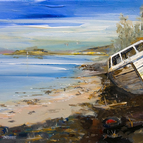 From Port Appin Pier - Greeting Card