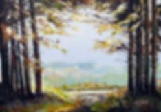 Peter Tarrant Contemporary Scottish Landscape Painter,Trossachs Woodland