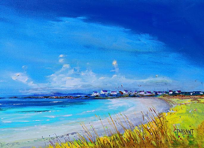 Peter Tarrant Contemporary Scottish Landscape Painter, Balranald Beach, Uist
