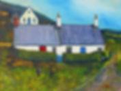 Peter Tarrant Scottish Landscape Painter, Cullipool Cottage, Isle of Luing,