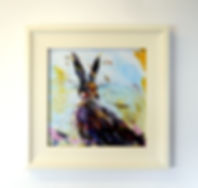 Framed Canvas Print of a Hare