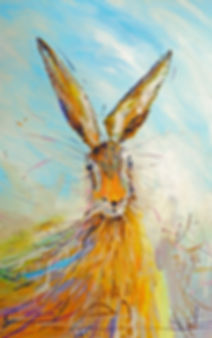 A Bright Hare by Peter Tarrant as a framed canvas print