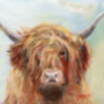 Peter Tarrant Contemporary Scottish Landscape Painter, Highland Cow
